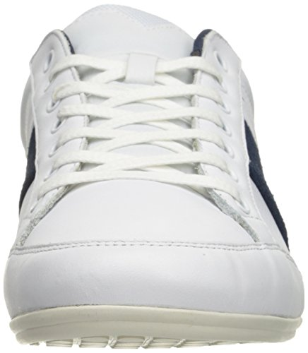 Lacoste Mens Chaymon 216 1 Fashion Sneaker Bianco / Blu Scuro