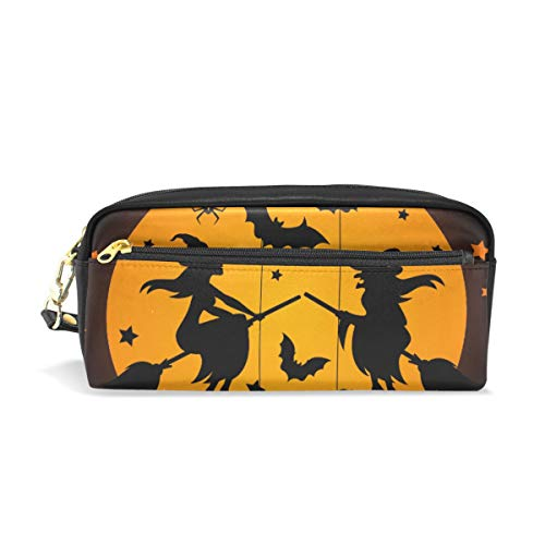 hengpai Magicians Halloween Bat Pencil case Cosmetic Makeup Bag Student Pen Pouch]()