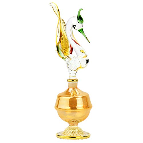 NileCart Figurine Egyptian perfume bottle large size Hnadmade in Egypt For your perfume, essential oils, Egyptian decoration or party table centerpiece (SWAN)