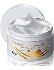 Vitamins Keratin Hair Mask Deep Conditioner - Thin Fine Hair Keratin Argan Silk Hydrating Complex to Repair Dry Damaged Hair and Scalp