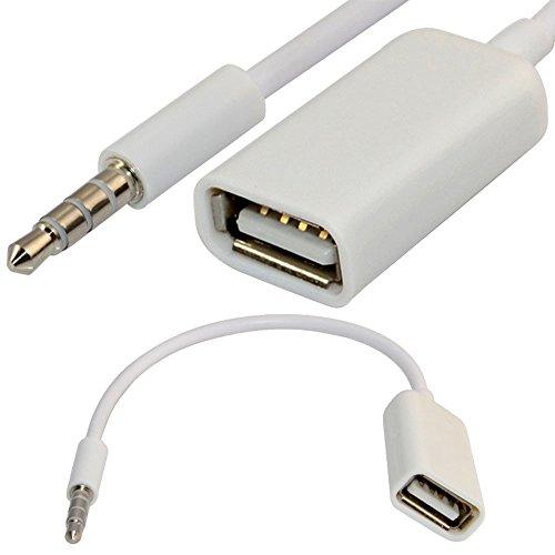 3.5mm Male AUX Audio Plug Jack to USB 2.0 Female Converter Cable Cord EN