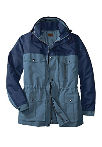 Boulder Creek Men's Big & Tall Lightweight Expedition Parka, Slate Blue by Boulder Creek