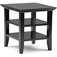 Simpli Home Acadian End Table, Black