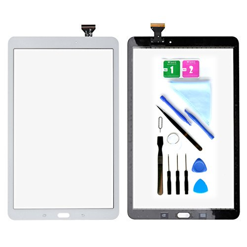 White Display Touch Screen Digitizer Glass Replacement for Samsung Galaxy Tab E 9.6 SM-T560 T560 T561(No LCD) with Adhesive and Tools by First choose