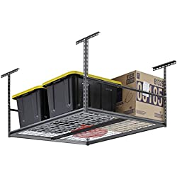 "Muscle Rack LR4848-SV 48""W x 48""D Overhead Garage Adjustable Ceiling Storage Rack , 42"" Height, 48"" width"