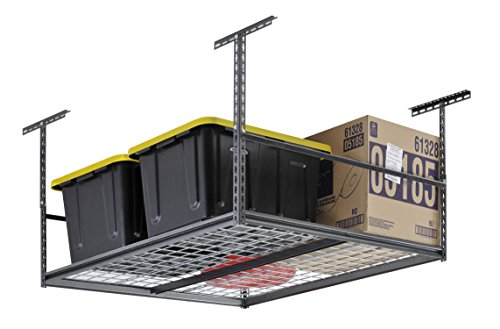 Muscle Rack LR4848-SV 48''W x 48''D Overhead Garage Adjustable Ceiling Storage Rack , 42'' Height, 48'' width by Muscle Rack
