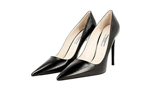 Prada 1I221F Leather Heels Pumps Saffiano Women's 8aqx6S