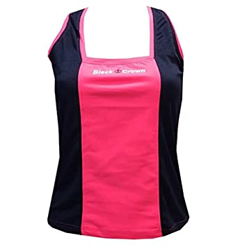 Camiseta Padel Black Crown Mujer Zurich Marino/Rosa-S: Amazon.es ...