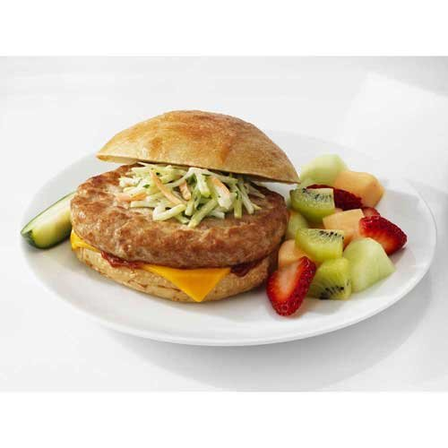 Butterball Savory White Turkey Burger, 5.3 Ounce - 30 per case.