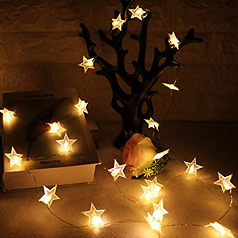 Buy AtneP 20 Star Shape String Lights For Home Decoration Party Festival Diwali Christmas Warm White Color Online At Low Prices In India