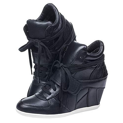 Nero a w Moda Tacco Alto Tagliare Donna Scarpe rismart Sneaker Zeppa EqOcz