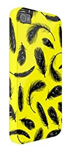 Feather Yellow Pattern iPhone 5 / 5S protective case (image shows iPhone 4 example)