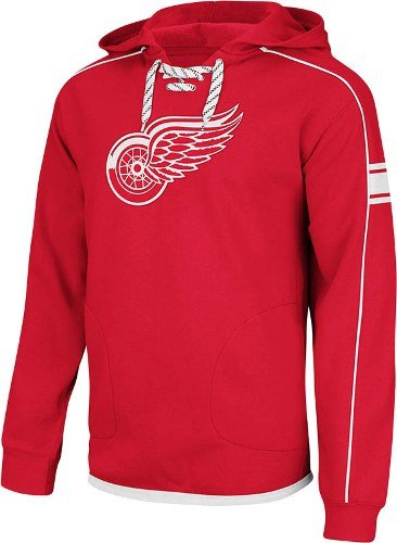 on sale 336ac 42a8c Detroit Red Wings Red Hat Trick Embroidered Hooded Sweatshirt by Reebok