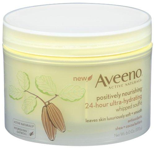 Aveeno Positively Nourishing Body Souffle crème fouettée, 6 oz