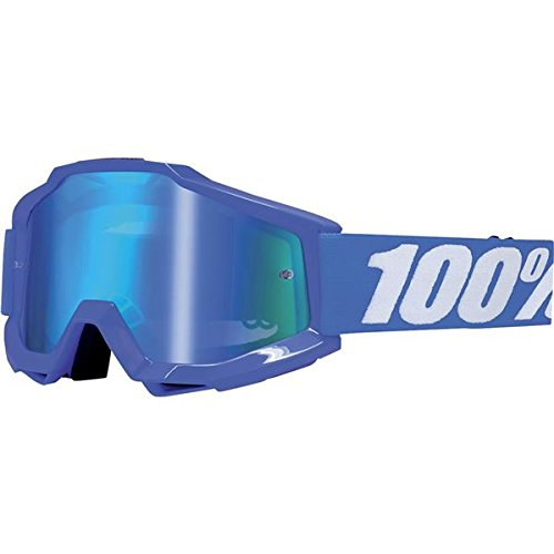 100% Accuri Men's Dirt Bike Motorcycle Goggles Eyewear - Blue/Reflex Blue/Mirror Blue / One Size