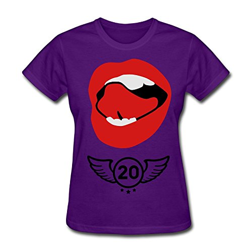 Unlongquhu Sexy Mouth Kiss Women's Short Sleeve Distinctive T ShirtSize L Color (Birdy Bed)