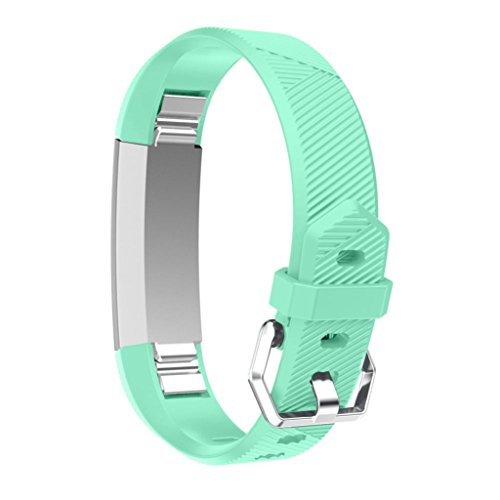 Hr Womens Green (For Fitbit Alta hr,Sunfei Replacement Wrist Band Silicon Strap Clasp for Fitbit Alta HR Smart Watch (Mint)