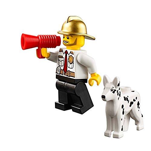 Dalmatian Fire Dog - LEGO City - Fire Chief Minifigure (w/ Gold Fire Helmet) & Dalmatian Dog 60088