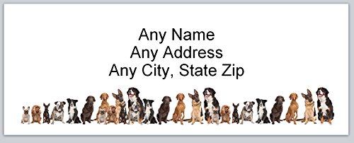 Dog Personalized Address Labels (120 Personalized Address labels Cute Dogs (ac 752))