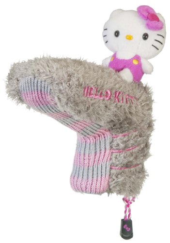"Hello Kitty Golf ""Mix and Match"" Putter Headcover (Grey/Pink), Outdoor Stuffs"