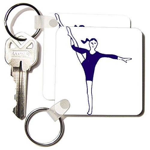kc_3129_1 Gymnastics - The Gymnast - Key Chains - set of 2 Key Chains