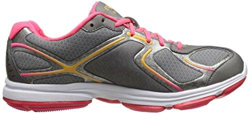 Ryka Women Devotion Walking Shoe Frost Grigio / Metallizzato Grigio Acciaio / Rosa Corallo / Arancio Ghiaccio