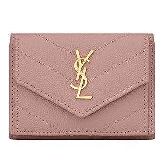 bfbee2d102e1 財布 三つ折り財布 モノグラム ウォレット ピンク 【レディース ミニ財布 コンパクト財布 ミニウォレット 小さい