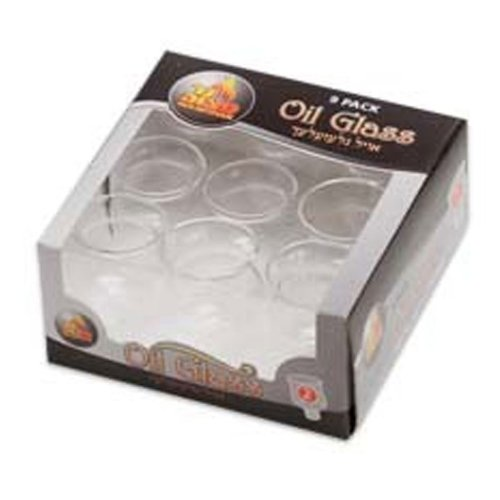 Round Glass Oil Cup Size #2 / 9 Pack