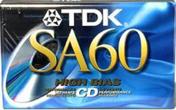 Sa-60 High Bias Audio Cassette TDK Media SA60 Accessory Consumer Accessories