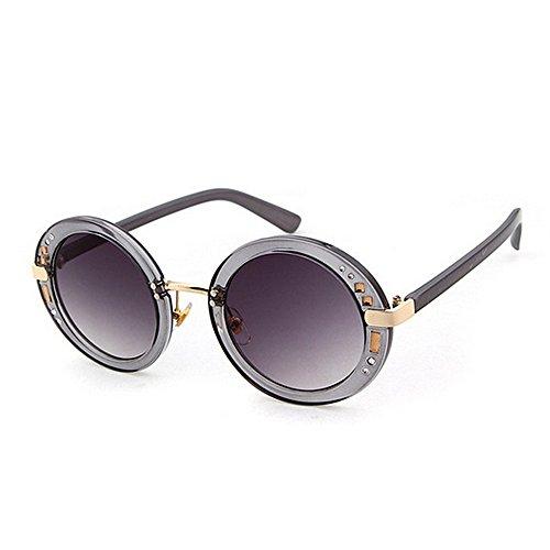Marco Playa de Vacaciones Sol Gafas de C3 Conducir Remaches Protección UV Color Gu de Decoración C3 Peggy Verano para Redondo Mujer Completo de qTw8pCY