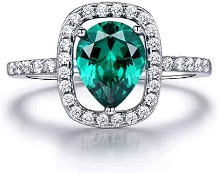 Silverraj Jewels Emerald Green CZ Stone Mickey Mouse Ring 14K Gold Plated Alloy Womens Jewellery
