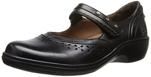 Aravon Women's Dolly Flat,Black,7 B US