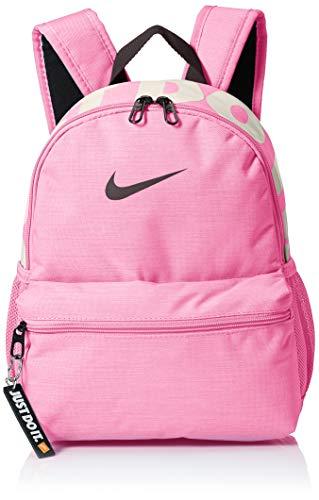 NIKE Brasilia Just Do It Mini Backpack, Psychic Pink/Black/Thunder Grey, Misc