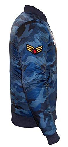 I Badge blue Imbottito Cappotto Camuffamento Succo Uomini Del Progettista Ma1 Bravo Nuovi Di Marca Bomber aq6arzw