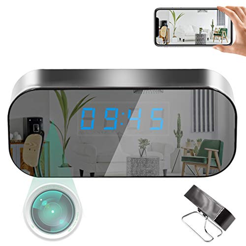 LMGL Clock Camera HD 1080P Mini Camera Wireless WiFi Pet Monitor Nanny Cam for Home Office Security with Motion Detection Alarm, Night Vision, Real-time Video.