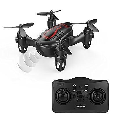 DROCON Hacker Drone, RC Quadcopter Micro Mini Drone with 720P HD Camera, Headless Mode, Easy to Trim, 360 Degree Flip by Drocon