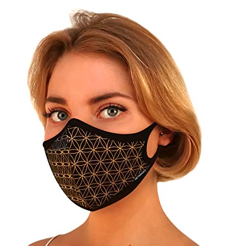 Air Pollution Face Mask Fashion, N99 N95 Pollution Dust Mask - Breathing Masks with Filter | Carbon Filtration Multi-Layer Protection Exhaust Gas Anti Pollen Allergy Washable Eco Friendly PM2.5 99.99%