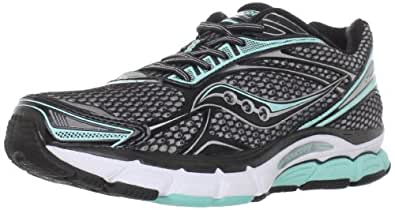 Saucony Women's Powergrid Triumph 9 Running Shoe,Silver/Black/Green,5 M US