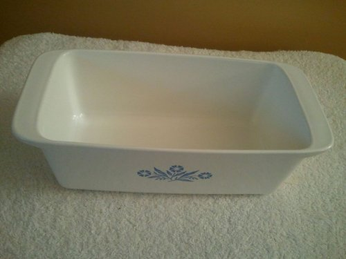 Vintage Corning Ware  inch Blue Cornflower inch Loaf Pan Baking Dish Collectible