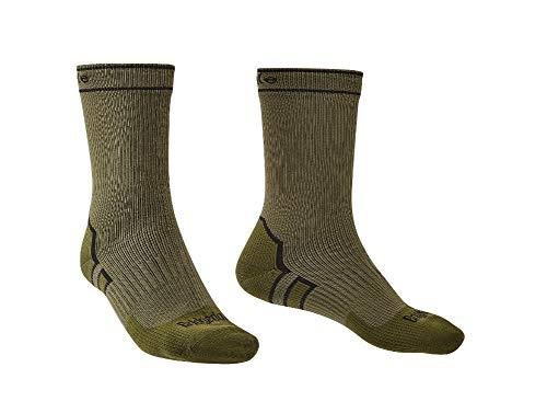 Bridgedale StormSock Midweight Boot Length Waterproof Merino Wool Sock, Khaki/Olive, L ()