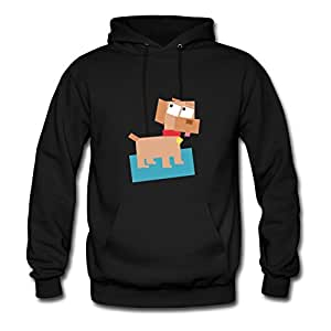 Square Animal Cartoon Dog Avengers America Black Hoody Style Personality X-large For Women Image