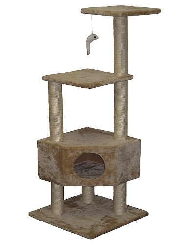 Go Pet Club Cat Tree Beige Color 415tHMOu57L