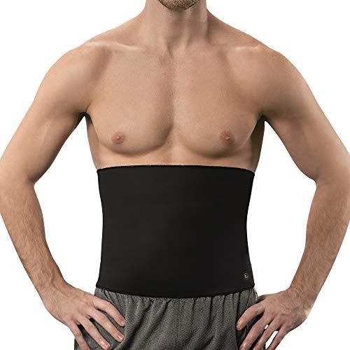 Copper Slim Sweat Belt for Men - Copper Infused Waist Trimmer Belt (Black, 2XL)