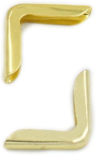 Fujiyuan 100 pcs 14mm 9//16 Albums Book Corner Protectors for Scrapbooking File Folder Menu Gold