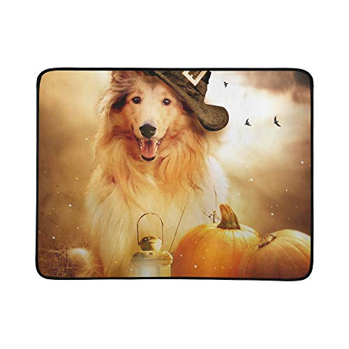 GIRLOS Collie Dog Witch Hat Decorated Halloween Portable