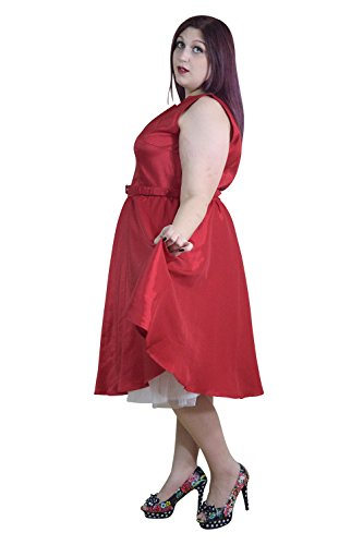 Chicstar-Plus-Size-Rockabilly-First-Love-Red-Satin-Flare-Party-Dress