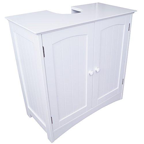 Anaterra Waschbecken Unterschrank in weiß Waschbeckenschank Unterschrank Badezimmer Schrank MDF