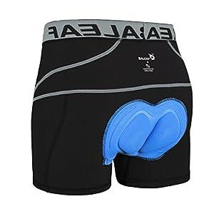 Baleaf Men's 3D Padded Bike Bicycle MTB Cycling Underwear Shorts (Grey, XXL)