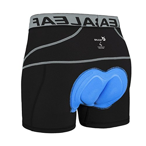 Baleaf Men's 3D Padded Bike Bicycle MTB Cycling Underwear Shorts (Grey, L)