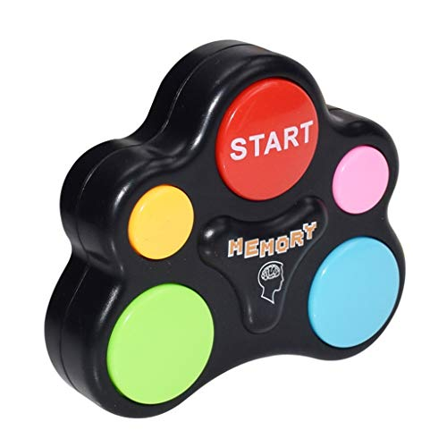 Elaco1 Children's Creativity Educational Game Machine Educational Toys with Lights and Sounds Toy Quiz Game Creative Interactive Game Flash Memory Training Game Machine